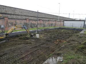Preparazione della vasca AGRIPORT per il trattamento di landfarming (1)